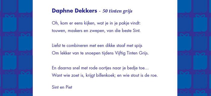 Citaten Uit 50 Tinten Grijs : Cadeautje van bruna gesproken sintgedicht daphne